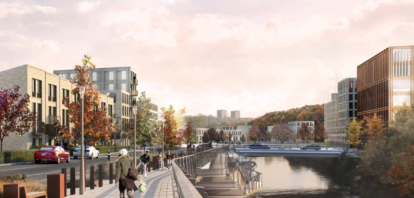 Kirkstall Forge riverside view