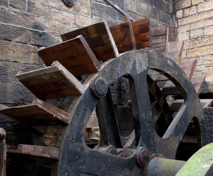 Kirkstall Forge Mill Race Water Wheel