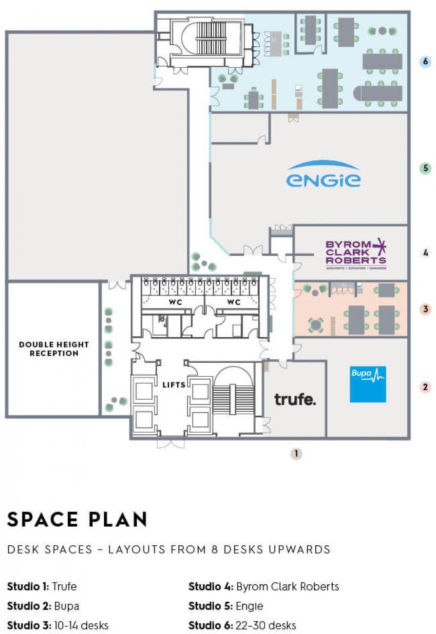 Forge Studio Floorplan