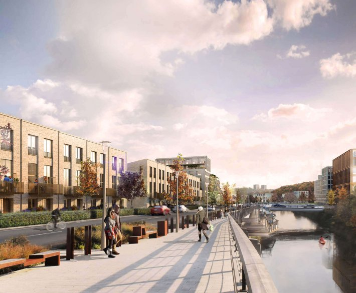 CGI of Kirkstall Forge