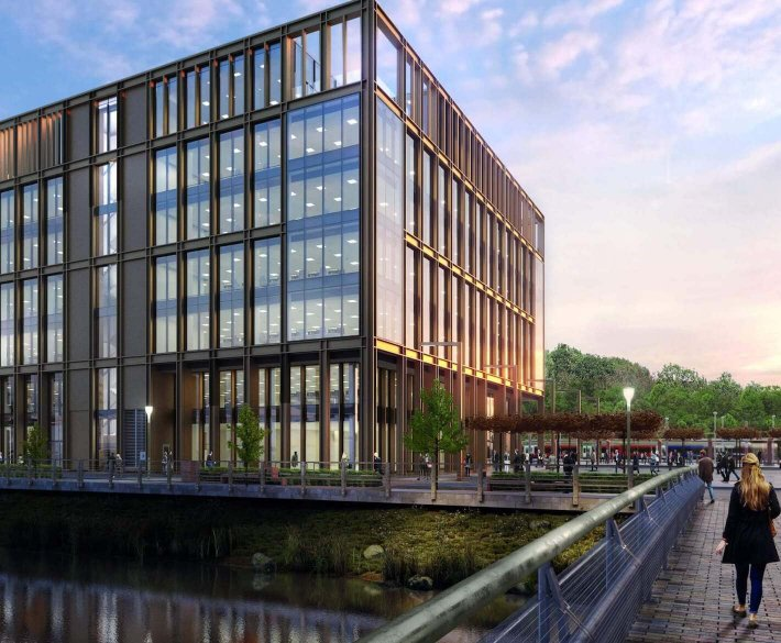 CGI of Number One, Kirkstall Forge