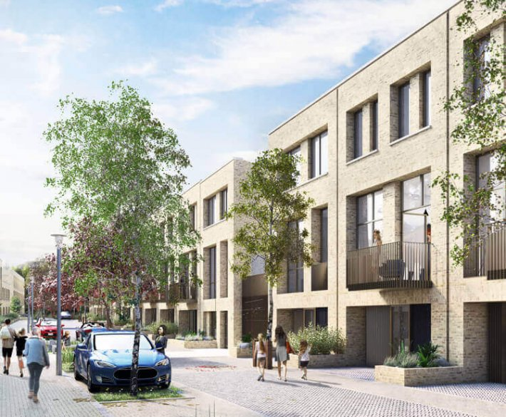 CGI of the residential housing at Kirkstall Forge